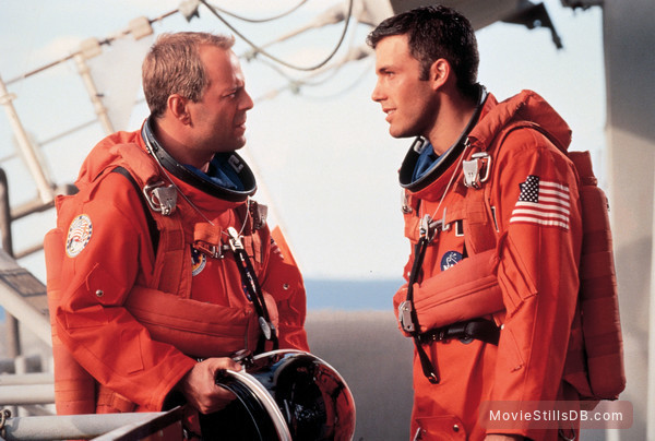 Armageddon - Publicity still of Ben Affleck & Bruce Willis