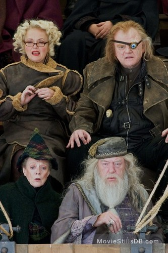 Harry Potter and the Goblet of Fire - Publicity still of Michael Gambon, Maggie Smith, Brendan Gleeson & Miranda Richardson