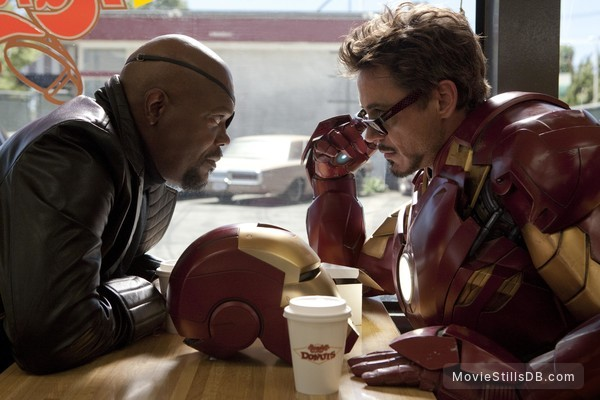 Iron Man 2 - Publicity still of Robert Downey Jr. & Samuel L. Jackson