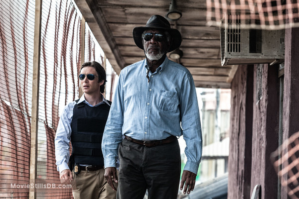 Transcendence - Publicity still of Morgan Freeman & Cillian Murphy