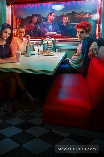 Riverdale - Promotional art with K.J. Apa, Camila Mendes, Lili Reinhart, Cole Sprouse, Madelaine Petsch & Ashleigh Murray