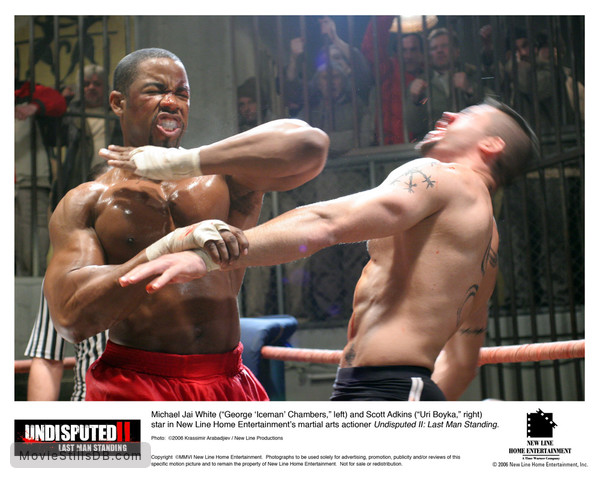 Undisputed II: Last Man Standing - Lobby card with Scott Adkins & Michael Jai White