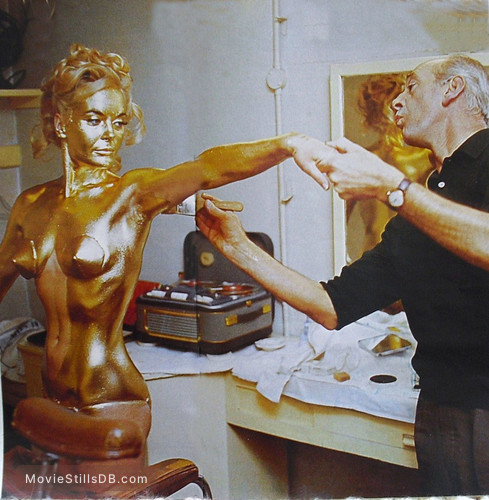 goldfinger shirley eaton behind the scenes - connery