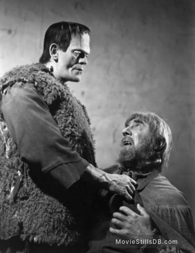 Son of Frankenstein - Publicity still of Boris Karloff & Bela Lugosi
