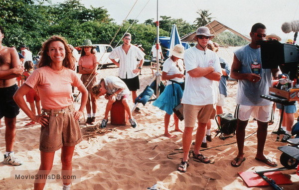 The New Swiss Family Robinson - Behind the scenes photo of Jane Seymour