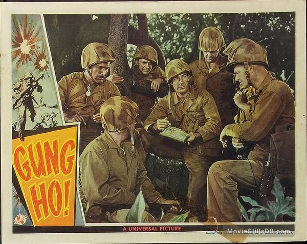 'Gung Ho!': The Story of Carlson's Makin Island Raiders - Lobby card with Randolph Scott