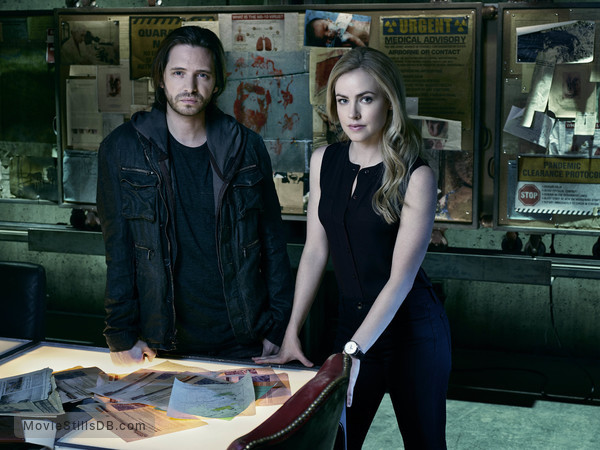 12 Monkeys - Promo shot of Aaron Stanford & Amanda Schull