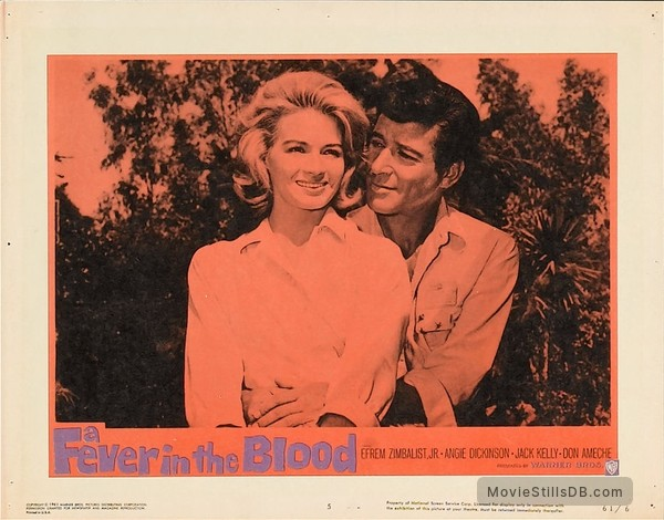 A Fever in the Blood - Lobby card with Efrem Zimbalist Jr & Angie Dickinson