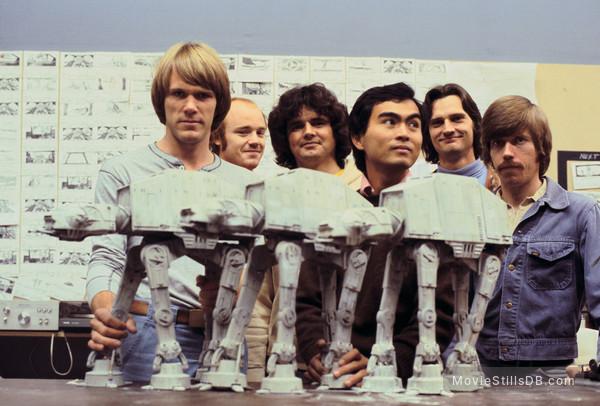 Star Wars: Episode V - The Empire Strikes Back - Behind the scenes photo of Phil Tippett, Joe Johnston, Tom Stamand, John Berg, Nilo Rodis-jamero & Doug Beswick