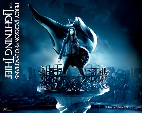 Percy Jackson & the Olympians: The Lightning Thief - Wallpaper with Alexandra Daddario