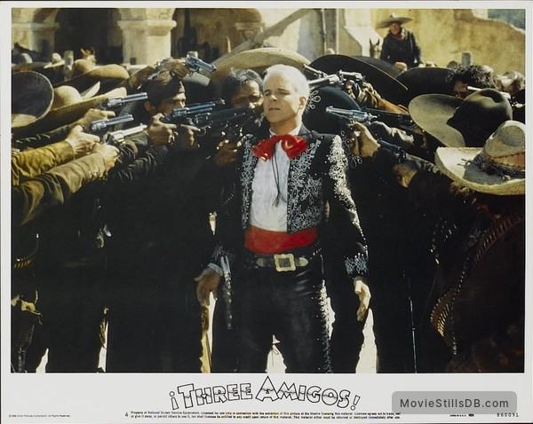 ¡Three Amigos! - Lobby card with Steve Martin