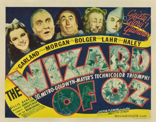 The Wizard of Oz - Lobby card with Judy Garland, Frank Morgan, Ray Bolger, Bert Lahr & Jack Haley