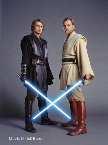 Star Wars: Episode III - Revenge of the Sith - Promo shot of Ewan McGregor & Hayden Christensen