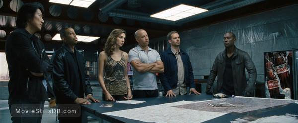 Furious 6 - Publicity still of Tyrese Gibson, Paul Walker, Vin Diesel, Gal Gadot, Ludacris & Sung Kang
