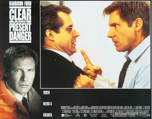 Clear And Present Danger - Lobby card with Harrison Ford & Henry Czerny
