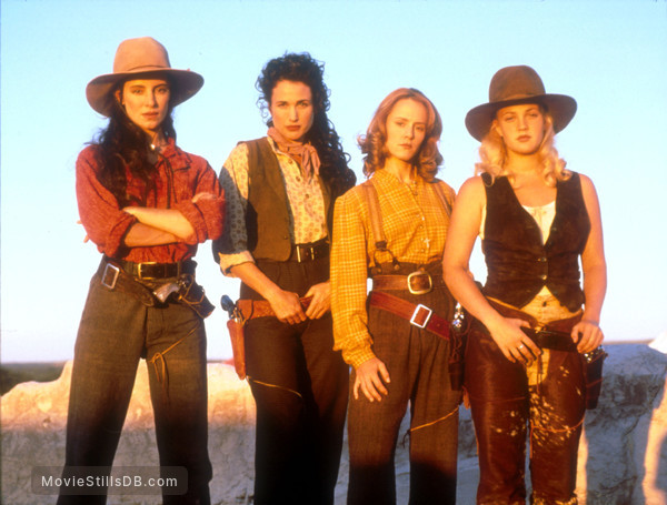 Bad Girls - Promo shot of Madeleine Stowe, Drew Barrymore, Andie MacDowell & Mary Stuart Masterson