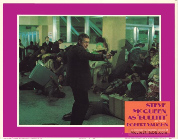 Bullitt - Lobby card with Steve McQueen