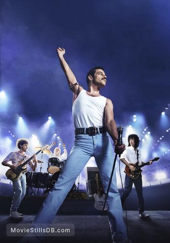 Bohemian Rhapsody - Promotional art with Joseph Mazello, Ben Hardy, Rami Malek & Gwilym Lee
