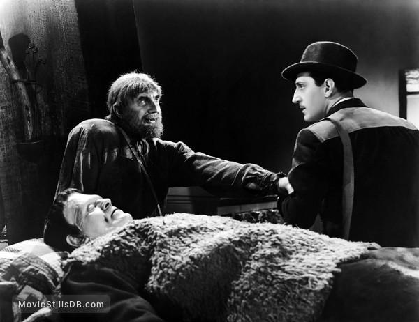 Son of Frankenstein - Publicity still of Boris Karloff, Bela Lugosi & Basil Rathbone