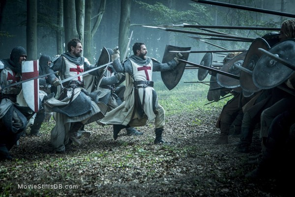 Knightfall - Publicity still of Tom Cullen & Simon Merrells