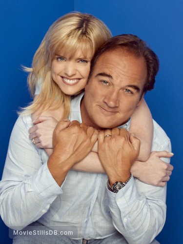 According to Jim - Promo shot of Courtney Thorne-Smith & James Belushi