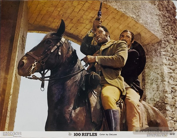 100 Rifles - Lobby card