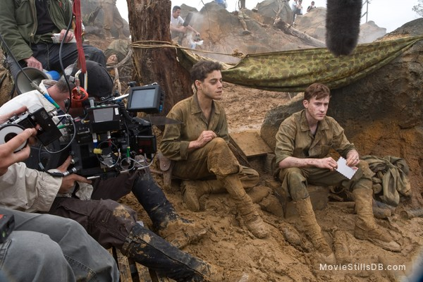 The Pacific - Behind the scenes photo of Joseph Mazzello & Rami Malek