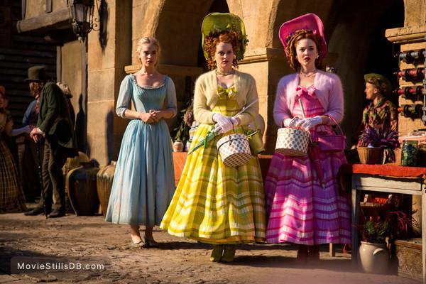 Cinderella - Publicity still of Lily James, Holliday Grainger & Sophie McShera