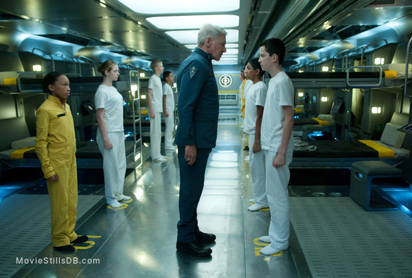Ender's Game - Publicity still of Harrison Ford & Asa Butterfield