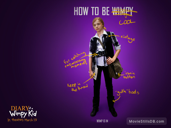 Diary Of A Wimpy Kid Wallpaper With Chloë Grace Moretz