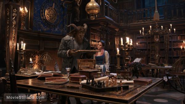 Beauty and the Beast - Publicity still of Emma Watson & Dan Stevens
