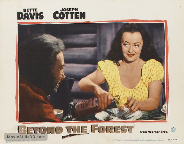 Beyond the Forest - Lobby card with Bette Davis & Minor Watson