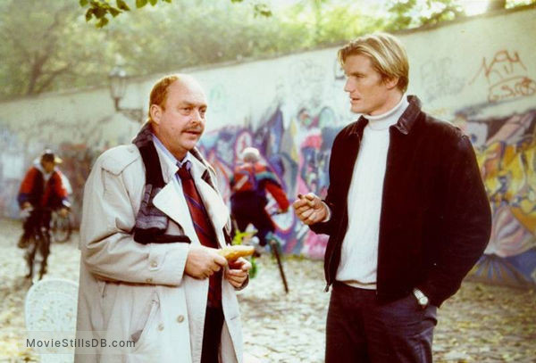 The Shooter - Behind the scenes photo of Dolph Lundgren & John Ashton