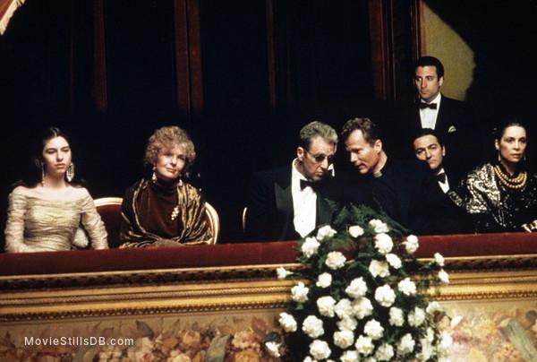 The Godfather: Part III - Publicity still of Diane Keaton, Al Pacino, Sofia Coppola, Andy García & John Savage
