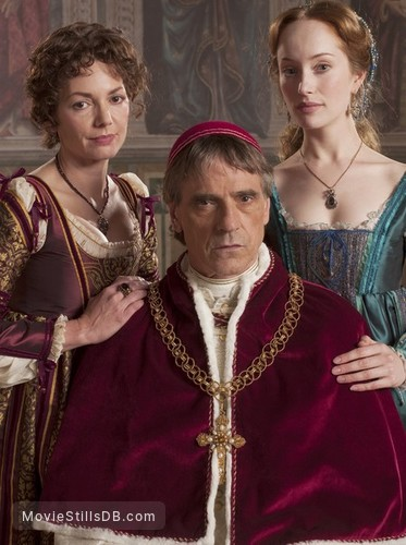 The Borgias - Promo shot of Jeremy Irons, Lotte Verbeek & Joanne Whalley
