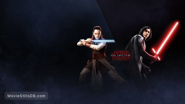 Star Wars: The Last Jedi - Promotional art with Daisy Ridley & Adam Driver
