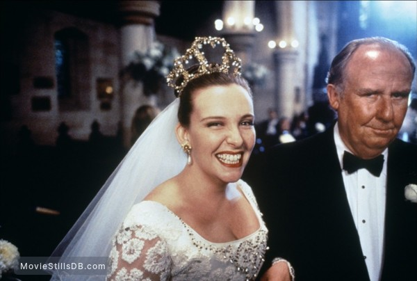 Muriel's Wedding - Behind the scenes photo of Toni Collette & Bill Hunter