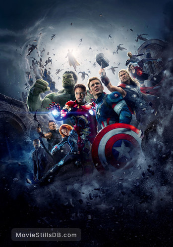 The Avengers: Age of Ultron - Promotional art with Scarlett Johansson, Mark Ruffalo, Samuel L. Jackson, Robert Downey Jr., Chris Evans, Jeremy Renner, Chris Hemsworth, Elizabeth Olsen & Aaron Taylor-Johnson