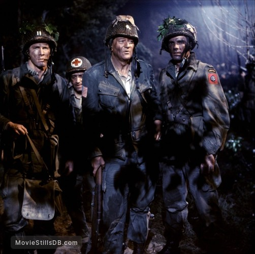 The Longest Day - Publicity still of John Wayne, Tom Tryon & Steve Forrest