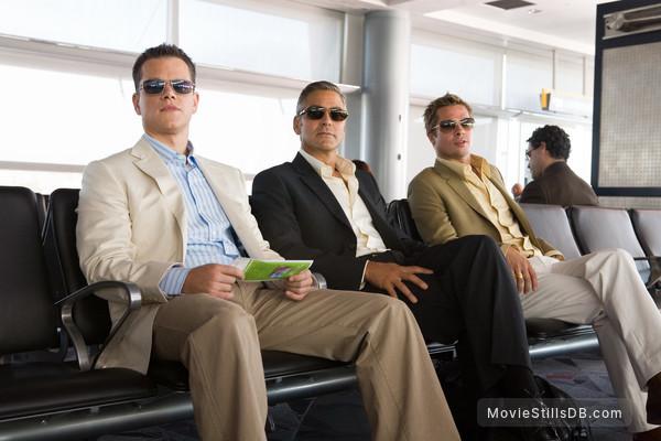 Ocean's Thirteen - Publicity still of George Clooney, Brad Pitt & Matt Damon