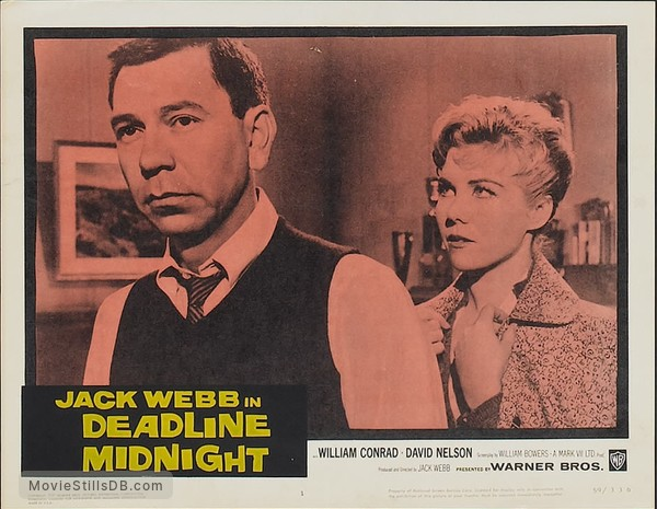 -30- - Lobby card with Jack Webb & Whitney Blake