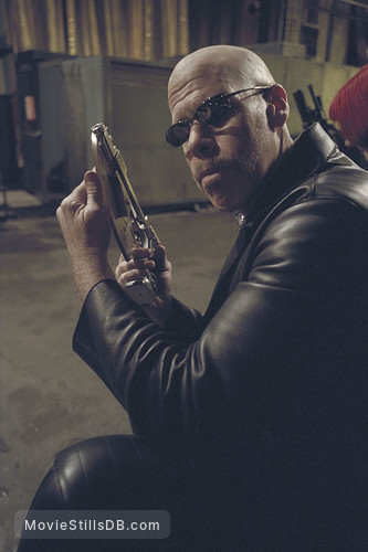 Blade 2 - Pre-production image with Ron Perlman