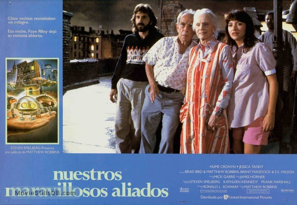 *batteries not included - Lobby card with Hume Cronyn, Jessica Tandy, Elizabeth Peña, Dennis Boutsikaris & Frank McRae