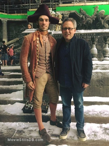 Beauty and the Beast - Behind the scenes photo of Alexis Loizon & Bill Condon