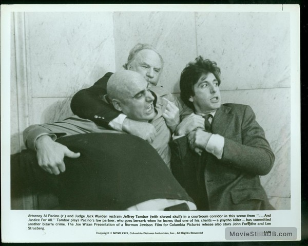 ...And Justice for All - Publicity still of Jeffrey Tambor, Jack Warden & Al Pacino