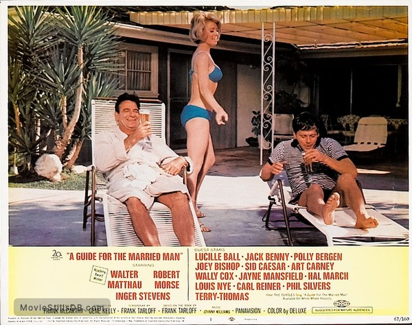 A Guide for the Married Man - Lobby card with Walter Matthau, Robert Morse & Inger Stevens