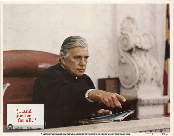 ...And Justice for All - Lobby card with John Forsythe