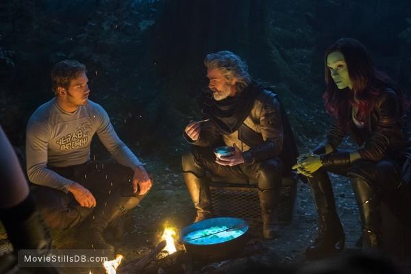 Guardians of the Galaxy Vol. 2 - Publicity still of Chris Pratt, Zoe Saldana & Kurt Russell