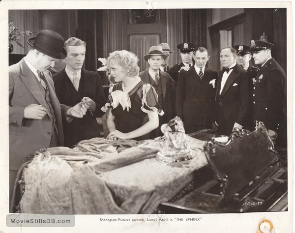 The Sphinx - Publicity still of Paul Hurst, Theodore Newton, Sheila Terry, Lucien Prival & Lionel Atwill