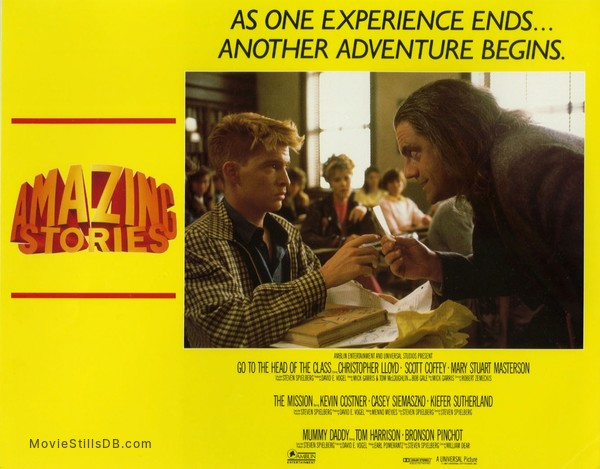 Amazing Stories - Lobby card with Scott Coffey, Mary Stuart Masterson & Christopher Lloyd